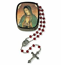 Our Lady of Guadalupe Rose Petal Rosary with Case NEW SKU VC798