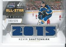 2015-16 SP Game Used KEVIN SHATTENKIRK #AS-KS All Star Relics Jersey 103/125