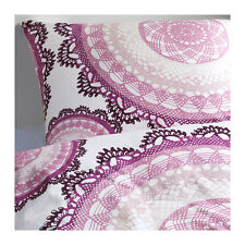 New IKEA Duvet King Quilt Cover 3 pc Set bedlinen Lyckoax w/ snaps closure Lilac