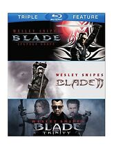 BLADE TRILOGY TRIPLE FEATURE BLU RAY SET 3 DISCS 1-3 WESLEY SNIPES