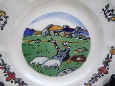 Assiette en faïence à décor de bretonne Pays Breton Georges Géo Fourrier