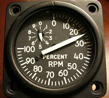 Military Tachometer - REDUCED! Simulator Instrument AH-1 Super Cobra