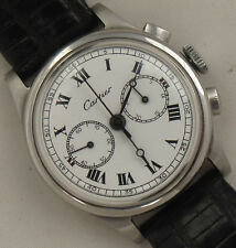 Geneva Sport small chronograph mens wristwatch steel case 30,5 mm. in diameter