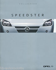 Opel Speedster Collection Prospekt 3/01 (D) brochure prospectus broschyr catalog