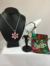 NWT Brighton Pop Garden Necklace, Bracelet and Earrings Comes w/Brighton Pouch