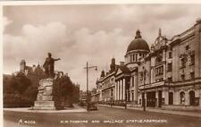 H M Theatre Wallace Statue Aberdeen unused RP pc Valentines