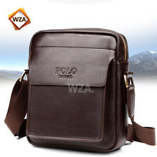 Mens Small PU Leather Handbag Briefcase Phone Shoulder Messenger HandBag Bag