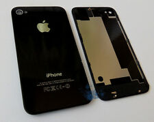 Black Quality Glass Replacement Back For Apple iPhone 4S Rear Battery Cover UK