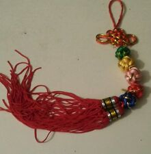 Chinese New Year Feng Shui lucky 5 mystic knots hanging tassel amulet charm NEW