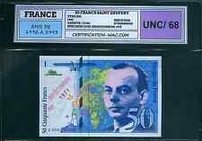 EXCEPTIONNEL SPÉCIMEN DU 50 FRANCS ST EXUPÉRY 1993 NEUF !!!