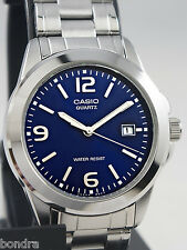 Casio MTP1215A-2A Men's Analog Watch Steel Band Blue Face Classic New with Date