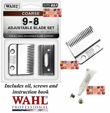 Wahl 9-8 COARSE REPLACEMENT CLIPPER BLADE For Stable/Show/Kennel Pro,UClip