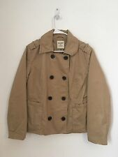 Womens OLD NAVY Khaki Double Breasted Jacket Coat XL Extra Large Cotton Lined