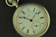 VINTAGE 18S HAMPDEN 21J CANTON OHIO DISPLAY BACK SWING OUT POCKET WATCH 1914