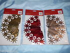 FOIL BALL CHRISTMAS DECORATION 3 DESIGNS GOLD RED SILVER 29CM CEILING DECORATE