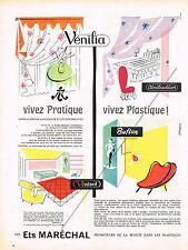 PUBLICITE ADVERTISING 054  1956  ETS MARECHAL   plastiques VENILIA