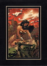 WONDER WOMAN 169 COVER PROFESSIONALLY MATTED PRINT Frame Ready DC Adam Hughes
