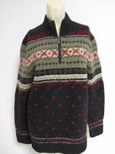 Lauren Ralph Lauren Lambswool / Wool Nordic ski  quarter zip Sweater Medium