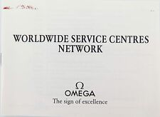SCARCE 1989 OMEGA WORLDWIDE SERVICE CENTRES NETWORK BOOKLET