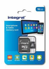 Integral 16GB Class 10 UHS-I U1 microSDHC Memory Card for SmartPhones & Tablets.