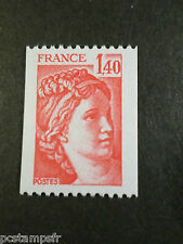 FRANCE 1980 timbre 2104, ROULETTE, type SABINE, neuf**, VF MNH STAMP