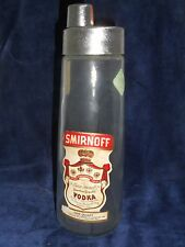 Vintage Smirnoff Vodka Bottle One Quart Glass Anchor Hocking Man cave Decor!