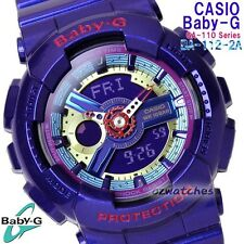 CASIO BABY-G LADIES WATCH BA-112-2A FREE EXPRESS PURPLE BA-112-2ADR DIGITAL