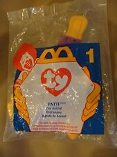 "1996 ORIGINAL MCDONALDS TY BEANIE BABY PATTI WITH ""BLACK TY HEART "" MINT SEALED"