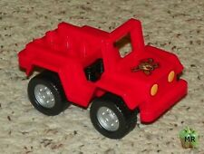 LEGO - Duplo Car - Jeep with Headlights and Fire Logo Pattern - Red