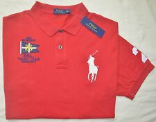 New XXL 2XL POLO RALPH LAUREN Men's Big Pony rugby polo shirt red classic fit RL