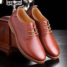 Mens European style oxfords leather Shoes Casual Shoes Larger size Brown US 12.5