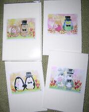 biglietti auguri matrimonio sposi gatti gufi pinguini conigli- wedding cards
