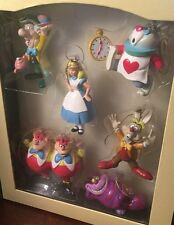 Alice In Wonderland Story Book Disney Christmas Ornaments Good Condition Vintage