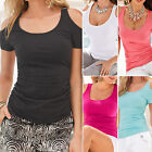 Women Celeb Sexy Casual Party Short Sleeve Blouse Tee Shirts Tops T-Shirts S-5XL