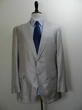"$3395 Ermenegildo Zegna Beige Herringbone ""Zegna Silk"" Business Suit 58L US 48L"