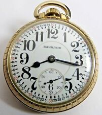 ANTIQUE MINT 992E ELINVAR HAMILTON 21'J POCKET WATCH 16'S GOLD F. RR MONTGOMERY