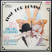 Rare! Michel Legrand TIME FOR LOVING film score OST LP 72 Matt Monro Springfield