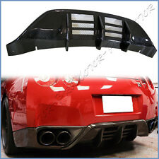 Fit on 2008-11 GT-R R35 CBA Model Carbon Fiber W Style Rear Bumper Body Diffuser
