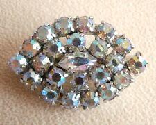 Vintage Aurora Boreal Strass Cristal Oval Boda Prom Broche Bolsa De Regalo del Reino Unido