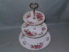 Royal Albert Flower of the Month November Chrysanthemum 3Tier Hostess Cake Stand