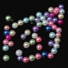 Lot 100 Demi Perles 4mm Mixte à coller, Decoration ongles, Nail art, coutures