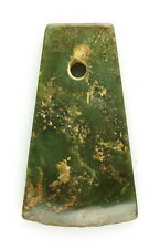 "ANCIENT CHINESE MILITARY RITUAL JADE ""YUE"" AXE - LIANGZHU CULTURE 3500-2100 BCE"