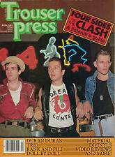TROUSER PRESS magazine No. 84  THE CLASH  Duran Duran  Modern English