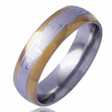 Carve mystic pattern Yellow silver gold filed Mens Promise love Ring Size 10