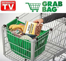 2 Pcs Same like on TV Grab Bag Clip-To-Cart Reusable Grocery Shopping Bags