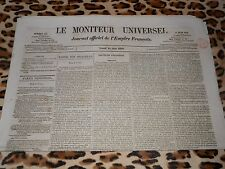 LE MONITEUR UNIVERSEL, journal officiel de l'empire français, n° 165, 14/06/1858