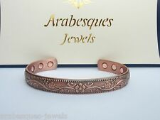 TOP QUALITY LADIES FLOWERS MAGNETIC COPPER BANGLE/BRACELET FOR PAIN RELIEF AJMB