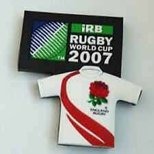 RUGBY WORLD CUP RWC 2007 ENGLAND FRENCH RUBBER 3D MAGNET OVAL