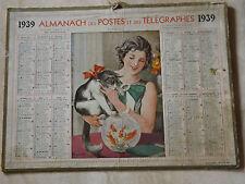 Calendrier Almanach des Postes 1939. Authentique