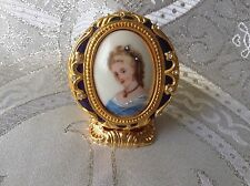 Edgar Berebi Limited Edition Faberge Limoges France Cameo Trinket Collector Box